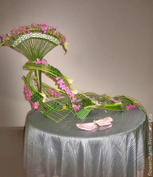 Интерьерные композиции ручной работы. Ярмарка Мастеров - ручная работа. Купить Оформление стола цветами. Handmade. Оформление стола