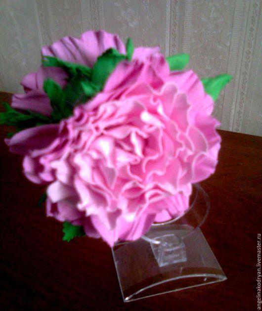 """Заколки ручной работы. Ярмарка Мастеров - ручная работа. Купить Заколка-краб из фоамирана """"Розовые розы"""". Handmade. Розовый"""