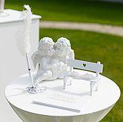 Свадебный салон handmade. Livemaster - original item Bench for the rings. Cushion for rings. Jewelry box for rings. Handmade.