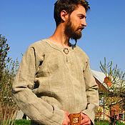 Русский стиль ручной работы. Ярмарка Мастеров - ручная работа Рубаха из домотканого льна. Handmade.