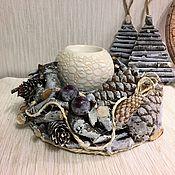 Подарки к праздникам ручной работы. Ярмарка Мастеров - ручная работа Новогодняя композиция- подсвечники Forest. Handmade.