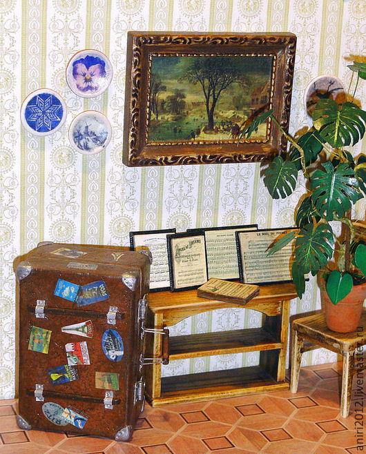 Кукольный дом ручной работы. Ярмарка Мастеров - ручная работа. Купить Миниатюра 1:12. Чемоданчик для маленькой куклы.. Handmade. чемодан