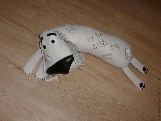 Игрушки животные, ручной работы. Ярмарка Мастеров - ручная работа. Купить Игрушка-подушка Собака без имени. Handmade. Серый