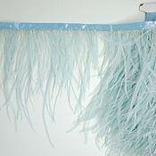 handmade. Livemaster - original item Copy of Trim of ostrich feathers 10-15 cm light-blue. Handmade.
