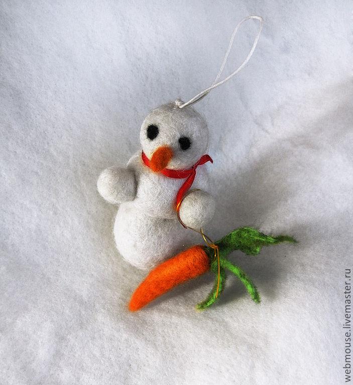 Денежный снеговик - снеговичок. Ёлочные игрушки. Теплые и разные, Елочные игрушки, Москва,  Фото №1