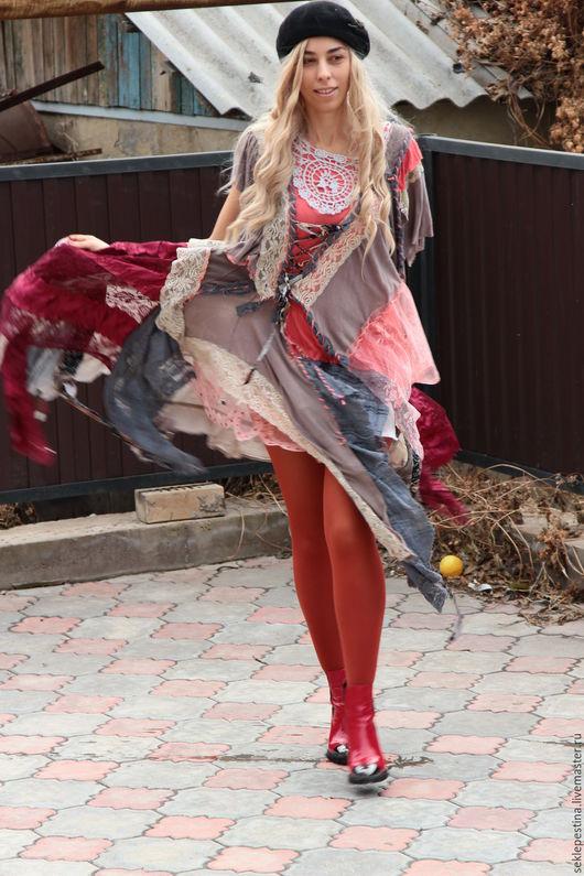 """Платья ручной работы. Ярмарка Мастеров - ручная работа. Купить платье"""" сказочное"""". Handmade. Разноцветный, Нежное, кантри, бохо стиль"""
