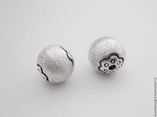 Для украшений ручной работы. Ярмарка Мастеров - ручная работа. Купить Бусины шарики, серебро 925 проба 8мм. Handmade.