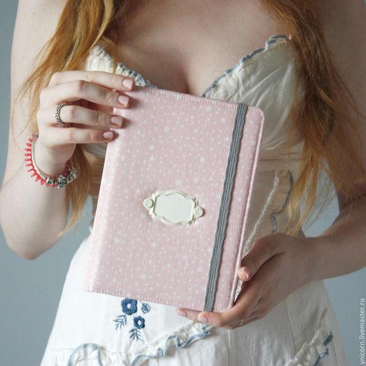 """Блокноты ручной работы. Ярмарка Мастеров - ручная работа. Купить Блокнот """"Нежные звёзды"""". Handmade. Розовый, молескин, скругленные уголки"""