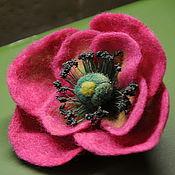"""Украшения ручной работы. Ярмарка Мастеров - ручная работа брошь """"розовый мак"""". Handmade."""