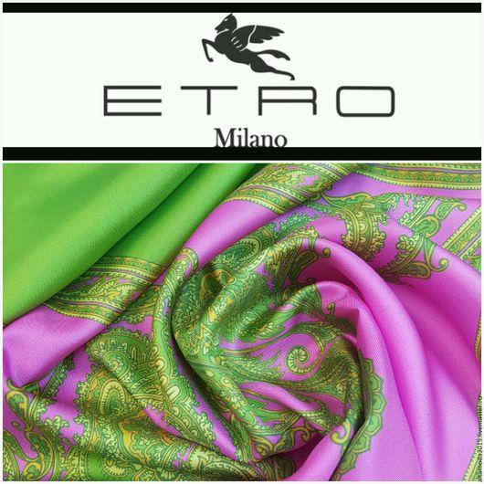 Шитье ручной работы. Ярмарка Мастеров - ручная работа. Купить Платочный шелк Etro  ,  ткань Италия. Handmade. Разноцветный