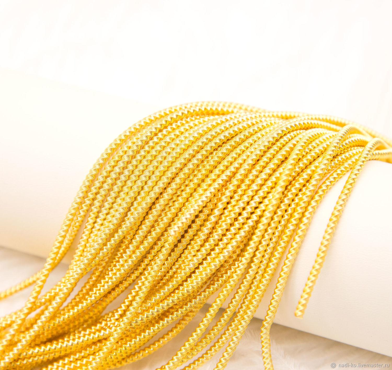 aa93c95aa2e0 Канитель трунцал витая желтое золото, производство Индия 2,6 мм, Надежда  (Nadi Ko