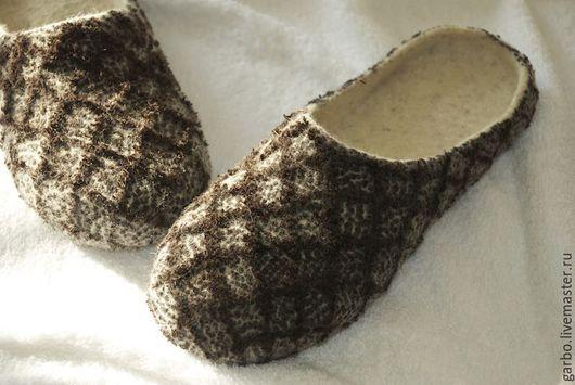 """Обувь ручной работы. Ярмарка Мастеров - ручная работа. Купить Тапочки валяные женские """"Тирамису"""". Handmade. Комбинированный, премиум"""