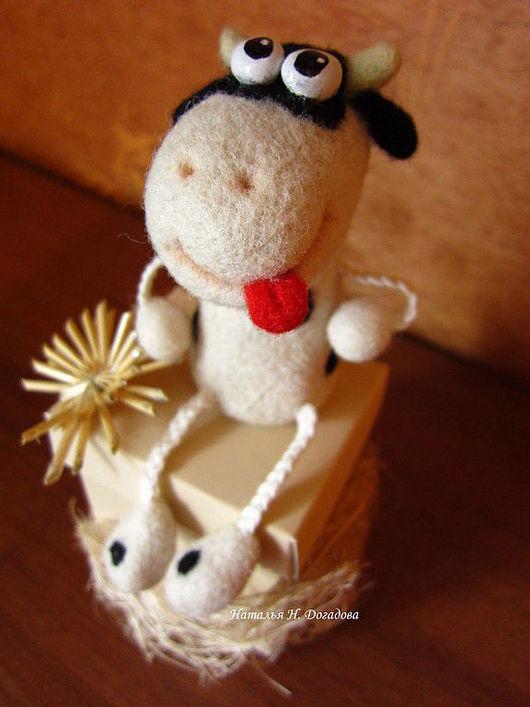 Игрушки животные, ручной работы. Ярмарка Мастеров - ручная работа. Купить Жизнерадостная корова. Handmade. Корова, игрушка, чёрно-белый