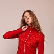 """Одежда ручной работы. Ярмарка Мастеров - ручная работа Джемпер """" Красный"""". Handmade."""