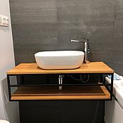 Для дома и интерьера handmade. Livemaster - original item Console under the sink from the array. Cabinet-stand in the bathroom made of wood. Handmade.