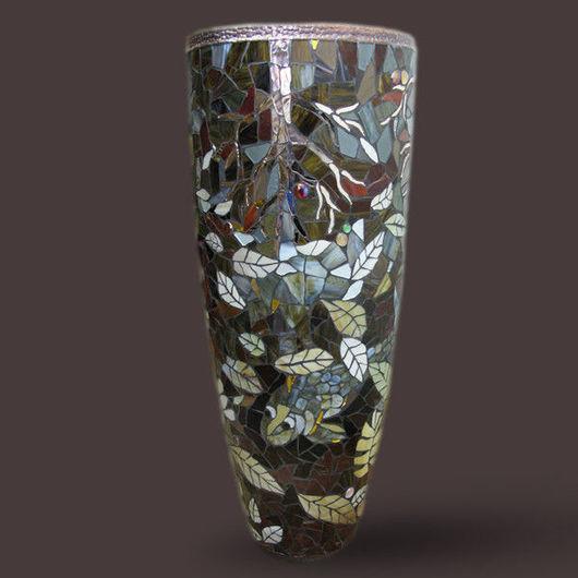 """Вазы ручной работы. Ярмарка Мастеров - ручная работа. Купить Напольная ваза """"Отражение"""". Handmade. Ваза, кашпо для цветов"""