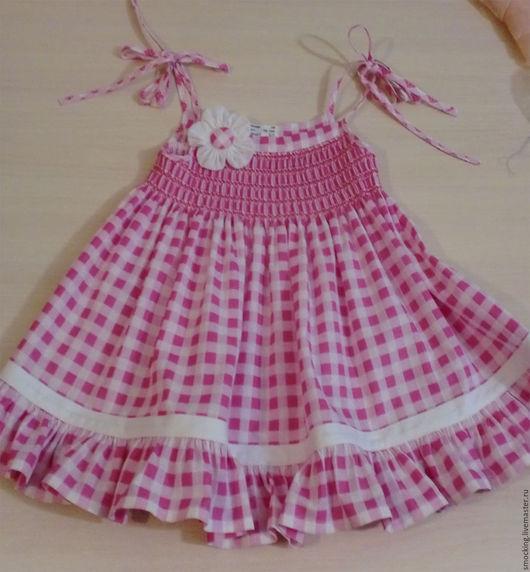 Одежда для девочек, ручной работы. Ярмарка Мастеров - ручная работа. Купить сарафанчик для девочки, smocking, на 2-3  года. Handmade.