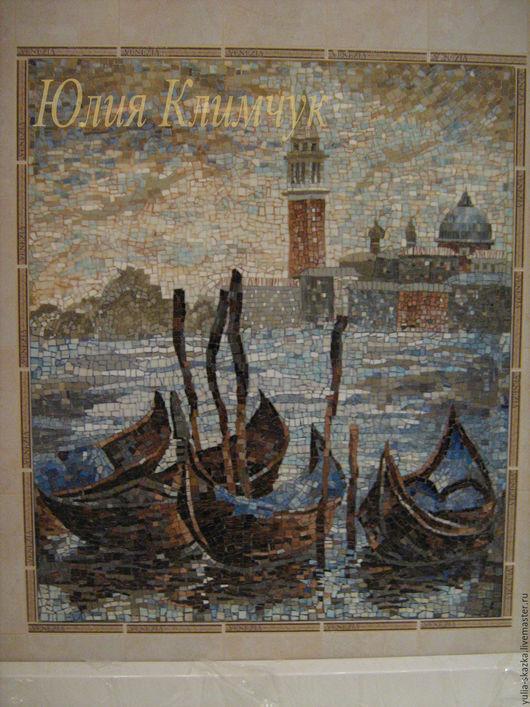 """Город ручной работы. Ярмарка Мастеров - ручная работа. Купить мозаика  """"Венеция"""". Handmade. Мозаика, мозаика в интерьер, гондолы, город"""