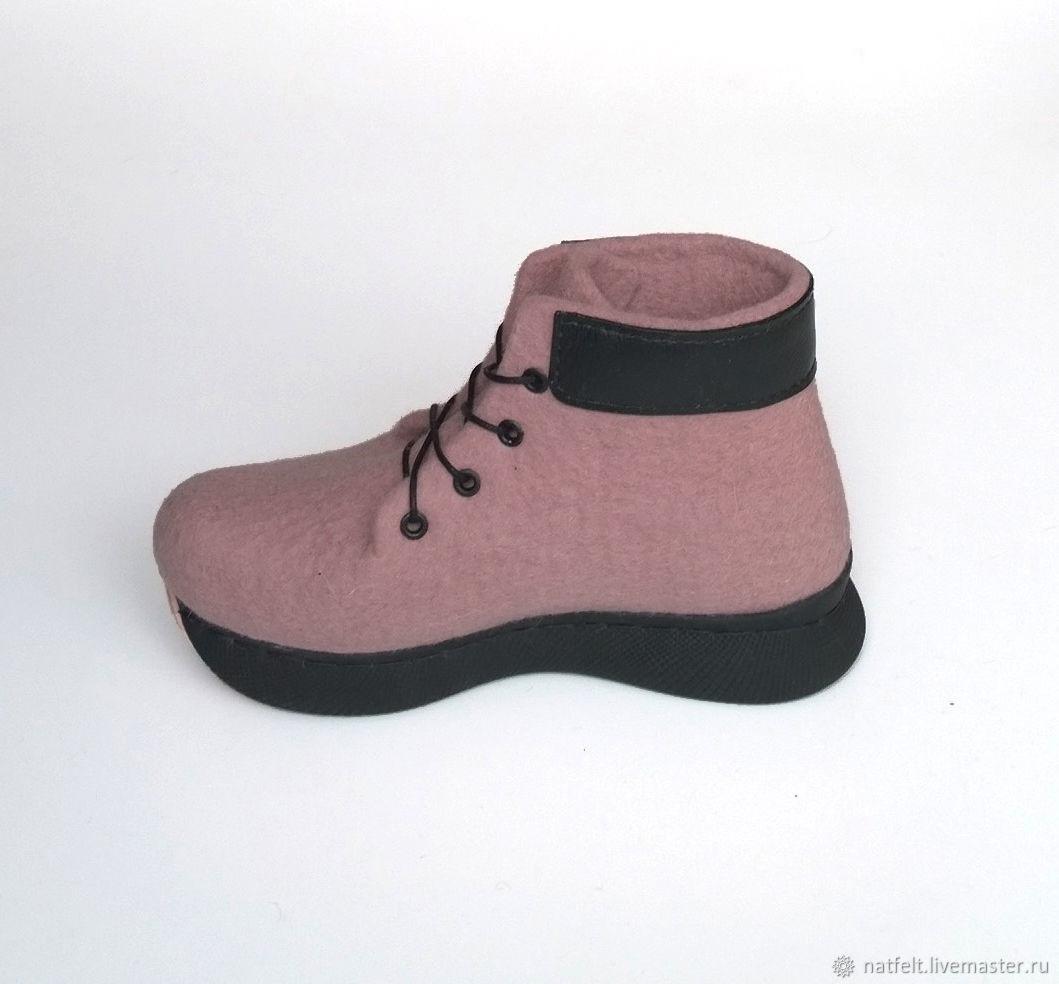 """Обувь ручной работы. Ярмарка Мастеров - ручная работа. Купить Валяные ботинки """"Романтика"""". Handmade. Валенки, обувь для девочки"""