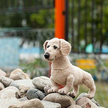 Куклы и игрушки ручной работы. Ярмарка Мастеров - ручная работа Вязаная игрушка Такса. Handmade.