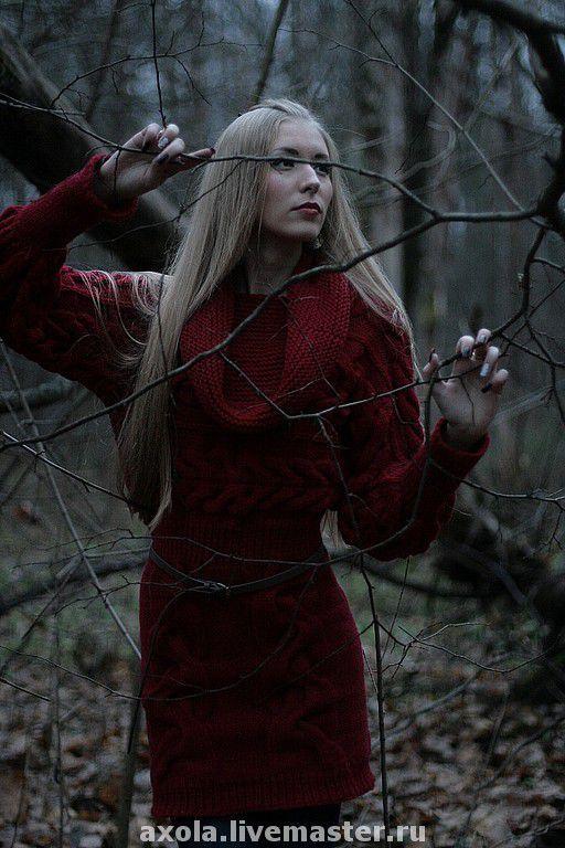 """Платья ручной работы. Ярмарка Мастеров - ручная работа. Купить Платье """"Вамп"""". Handmade. Вязаное платье, платье вязаное"""
