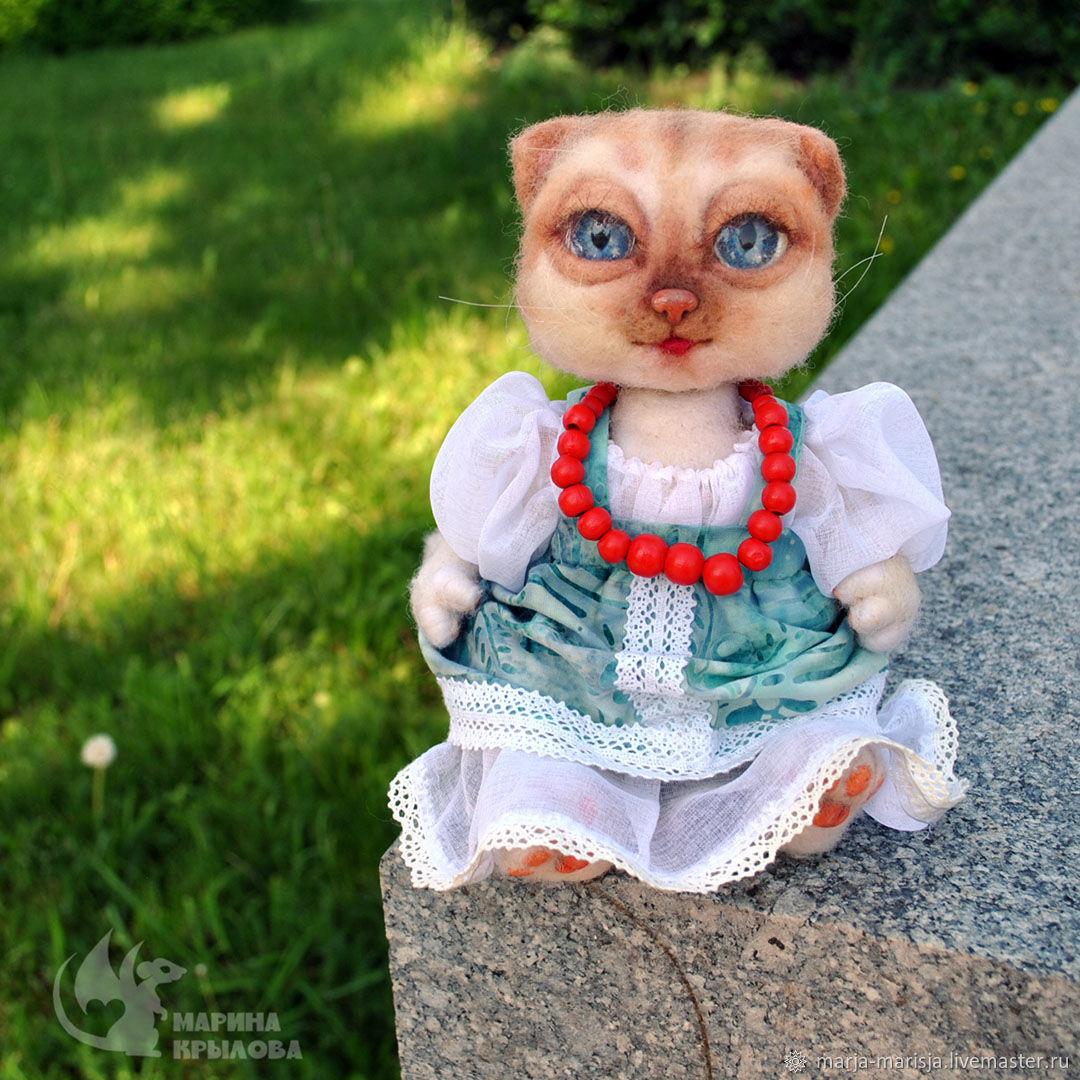 Кошечка Буся ( повтор), Войлочная игрушка, Москва,  Фото №1