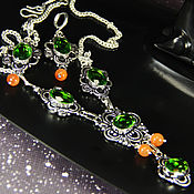 Украшения handmade. Livemaster - original item Gorgeous set with peridot the