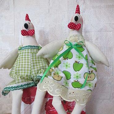 Куклы и игрушки ручной работы. Ярмарка Мастеров - ручная работа Пасхальные курочка и петушок. Handmade.