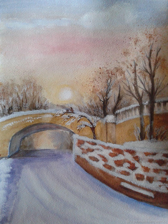 Картина Мостик в Приморском парке, Картины, Симферополь,  Фото №1