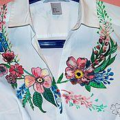 Одежда handmade. Livemaster - original item Blouse painted