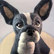Куклы и игрушки handmade. Livemaster - original item felt toy: French bulldog. Handmade.