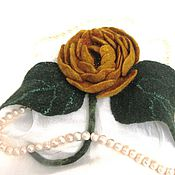 "Brooches handmade. Livemaster - original item ""Dolce Vita"" брошь роза валяная. Handmade."