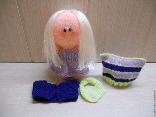 Куклы тыквоголовки ручной работы. Ярмарка Мастеров - ручная работа. Купить Куколка Большеголовка. Handmade. Интерьерная кукла, вязаная игрушка