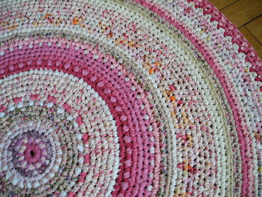"""Текстиль, ковры ручной работы. Ярмарка Мастеров - ручная работа. Купить Коврик """"Розовый"""". Handmade. Розовый, светло-розовый, дача"""