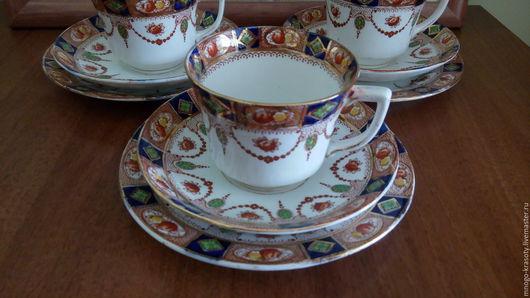 Винтажная посуда. Ярмарка Мастеров - ручная работа. Купить чайное трио 1920-х годов. Handmade. Английский фарфор, тарелка