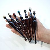 Материалы для творчества handmade. Livemaster - original item Wooden knitting hooks Set (4-10mm) - 7#12. Handmade.