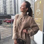 Одежда handmade. Livemaster - original item Beige longline jumper. Handmade.