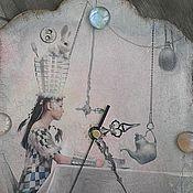 """Для дома и интерьера ручной работы. Ярмарка Мастеров - ручная работа Часы""""А чаепитие началось в апреле..."""". Handmade."""