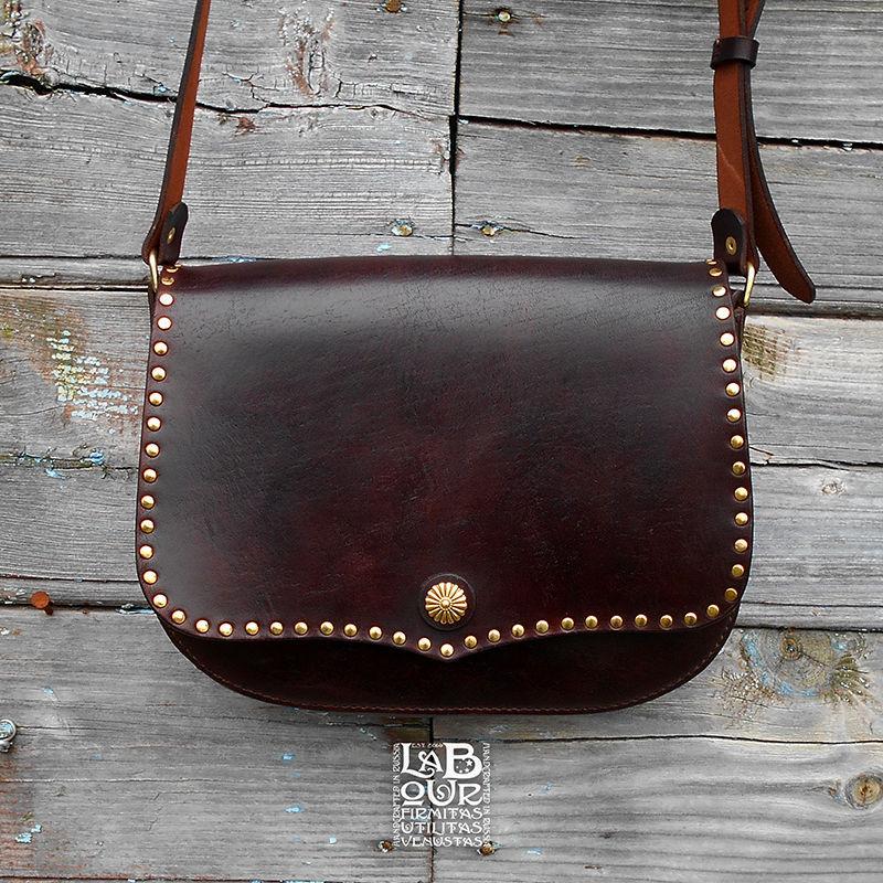 Leather bag Dark Sail, saddle bag, messenger, Messenger Bag, Sevsk,  Фото №1
