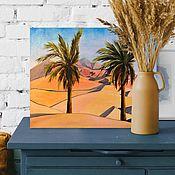 Картины и панно handmade. Livemaster - original item Pictures: DUNES, UAE, oil on canvas, 50h40, modern. Handmade.