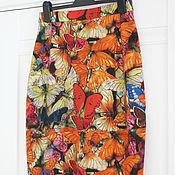 """Одежда ручной работы. Ярмарка Мастеров - ручная работа Юбка - карандаш """"Бабочки"""". Handmade."""