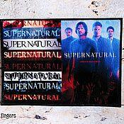 """Cover handmade. Livemaster - original item Кожаная обложка на паспорт """"Supernatural"""", Сверхъестественное красный. Handmade."""