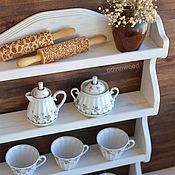 """Для дома и интерьера ручной работы. Ярмарка Мастеров - ручная работа """"Бэлла"""", Настенная открытая деревянная полка на кухню для посуды. Handmade."""