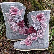 """Обувь ручной работы. Ярмарка Мастеров - ручная работа Валенки для дома """"Красивые-2"""". Handmade."""