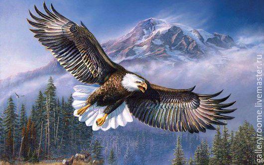 Другие виды рукоделия ручной работы. Ярмарка Мастеров - ручная работа. Купить Картина по номерам Парящий орел. Handmade.