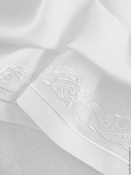 Скатерть с вышивкой `Розовый сад`.  `Шпулькин дом` мастерская вышивки