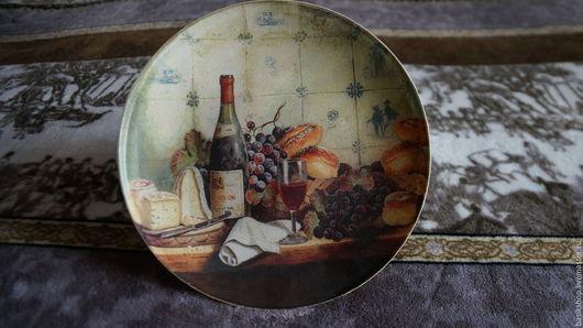 """Тарелки ручной работы. Ярмарка Мастеров - ручная работа. Купить Декоративная тарелка """"Аперитив"""". Handmade. Интерьерное украшение, тарелка панно"""