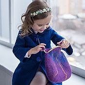 Одежда детская handmade. Livemaster - original item Felted coat for girls Rgse. Handmade.