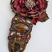handmade. Livemaster - original item Necklace of simbircite and amonite
