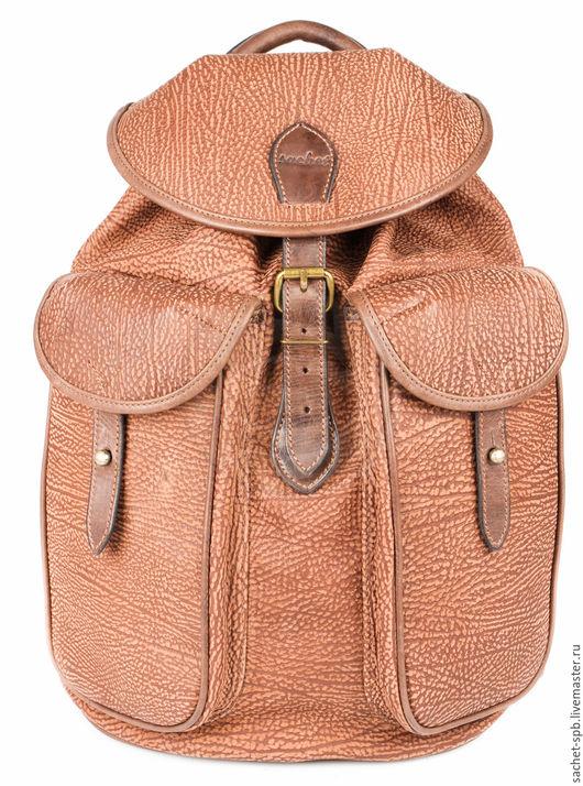 """Рюкзаки ручной работы. Ярмарка Мастеров - ручная работа. Купить Кожаный рюкзак """"Круиз"""" коричневый. Handmade. Коричневый, рюкзак из кожи"""